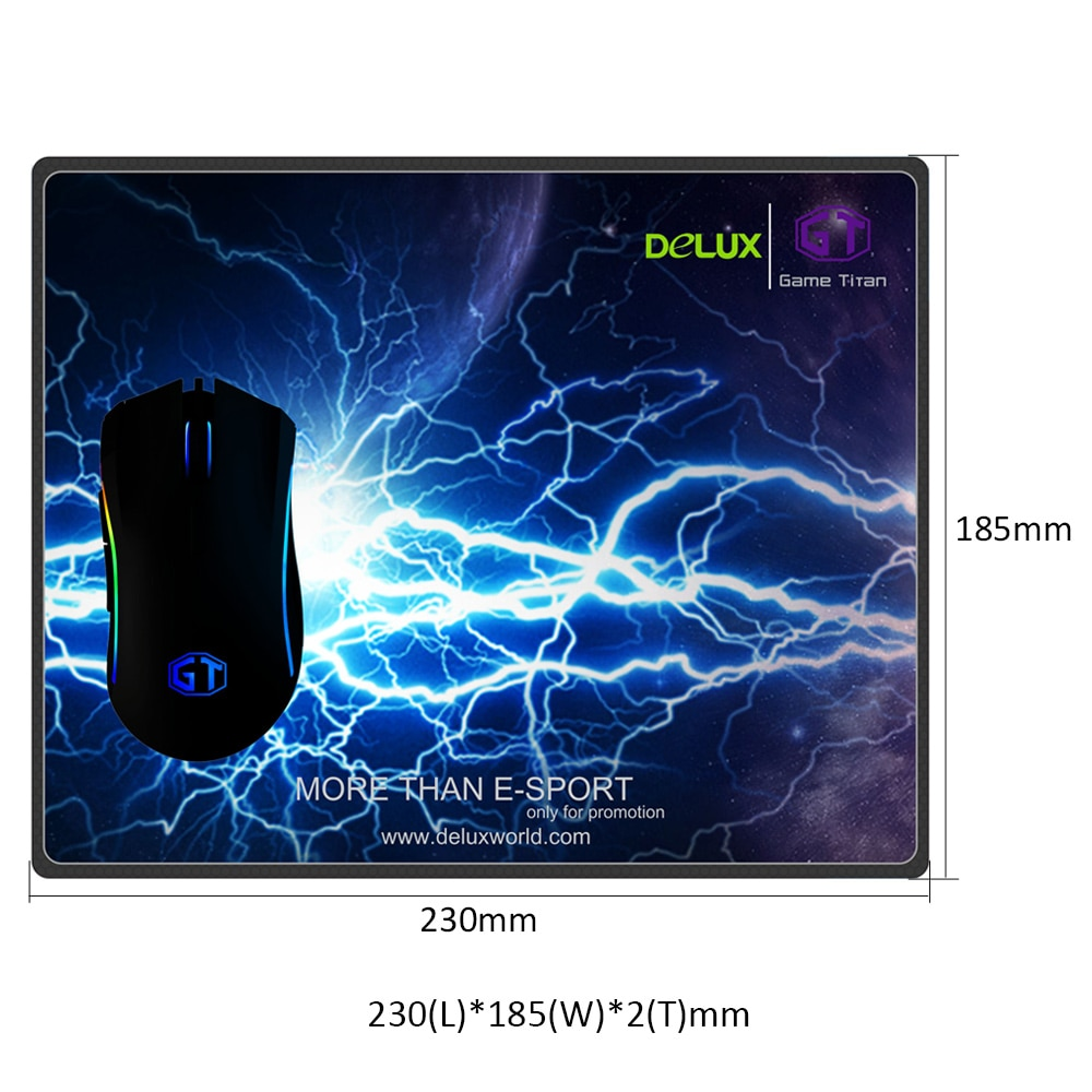 DELUX GAMING MOUSE PAD 185x230x2mm купить Бишкек, Кыргызстан